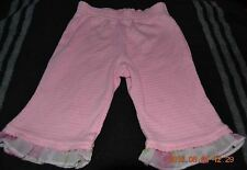 Pants Infant Girl Size 3-6 Month Solid Pink Cotton And Polyester