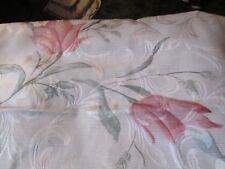 Comforter King quilted w/2 shams lt beige w/pink flowers & Bedskirt