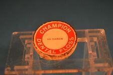 Vintage Champion Dental Floss Silk! Small Metal Container Still has floss!