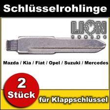 Schlüsselrohling für Klappschlüssel Zentralverriegelung Mazda, Kia, Fiat
