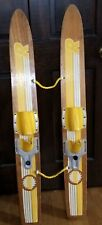 """Vintage Riviera Competitive Series Wooden Jr. Junior Water Skis 47"""" Waterskiing"""