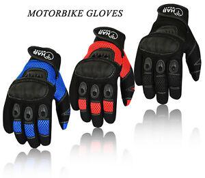 LightWeight Motorcycle Motorbike Gloves Knuckle protection Summer  Riding Biker