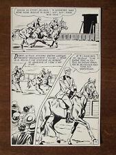 "PLANCHE ORIGINALE MON JOURNAL ""ROCAMBOLE Rouletabille"" N°39 j.LIERA 1967 page 11"