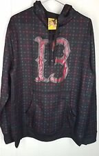 Burton Hoodie mens size M black red print long sleeve 13