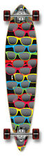 SHADES GLASSES Graphic COMPLETE Longboard Pintail Skateboard w/ 71mm Gel Wheels