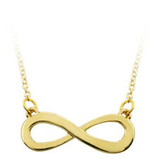 """Gold Color High Shine Infinity Sign Pendant with 16"""" Chain"""
