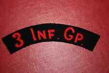IRISH EIRE CLOTH SHOULDER TITLE 3 INF GP IRELAND