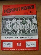 12/04/1969 Nottingham Forest v Tottenham Hotspur  (Light Crease, Team Changes)