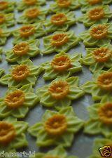15 Daffodil edible sugar paste flower cupcake topper 4.5 cm icing St.David day