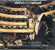 """DAVID BISBAL """"ACUSTICO-LO MEJOR DE UNA NOCHE EN EL TEATRO REAL"""" DIGIPACK CD/ NEW"""