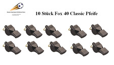 Fox 40 Classic Schwarz Schiedsrichterpfeiffe 10 Stück