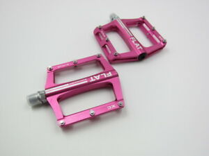 SMS0.1plus pink Aluminum XC AM MTB Road Bike Bearing Pedals flat Pedal 100*98