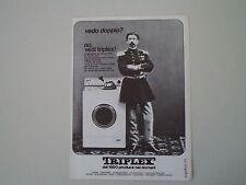 advertising Pubblicità 1970 LAVATRICE TRIPLEX