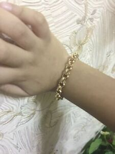 """18ct Yellow """"Gold Filled""""Unisex Belcher Bangle Bracelet..All sizes Baby to Adult"""