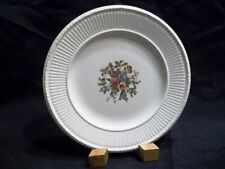 """Conway Edme by Wedgwood Salad Plates Creamware Multicolor Floral Center 8"""""""