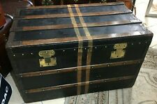 beautiful vintage moynat paris steamer travel cabin trunk ideal coffee table