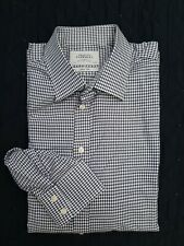 CHARLES TYRWHITT BLUE CHECK SHIRT 17.5/34in 44/86cm Slim Fit