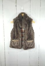 American Rag Cie Faux Fur Brown Vest Women's Size M