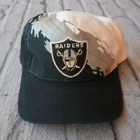 Vintage Rare 90s Oakland Raiders Splash Snapback Hat Cap Logo 7