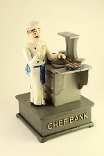 Hawthorne Direct Rare Chef Cook & Stove Mechanical Cast Iron Coin Money Bank