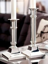1X Candle Holder - Square Stand - Silver Plated And Anti-tarnish Protection