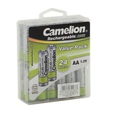 Camelion NC-AA600 1.2V 600mAh AA Ni-Cd Rechargeable - 24 Pack Plastic Case