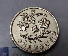 2014 £ 1 una libra moneda circuló Floral emblema N/Irlanda Shamrock & Lino (EF) J4