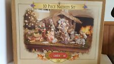 Grandeur Noel Collector's Edition 2000 10 Piece Porcelain Nativity Set With Box