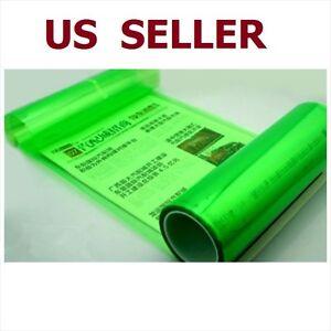 "12"" x 48"" Car Tint Headlight Taillight Fog Light Vinyl Smoke Film Sheet Green"