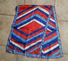 """Vera Neumann Scarf - Polyester - 15"""" By 45"""" - Red White & Blue"""