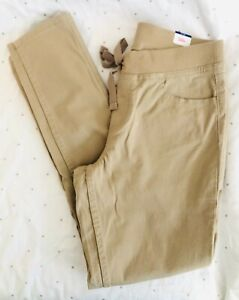 JUSTICE brand girls khaki pants size 12 Plus **BRAND NEW WITH TAGS!!**