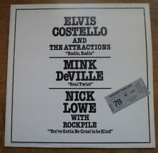 "Elvis Costello/Mink DeVille/Nick Lowe - Now See Them Live! - 12"" AS 443 Promo"