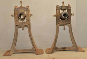 2 line shaft hanger bracket coffee table stand industrial collectible steampunk