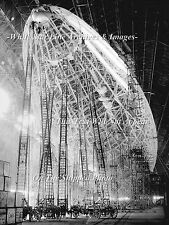 Poster Print: Airship USS Macon Being Built, Goodyear Airdock, Akron, Ohio, 1932