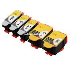 5PK Hi-Yield BK Color Ink For Kodak 30XL K-30/XL ESP C310 C315 2150 3.2 Hero 3.1