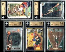 SUPER BARGAIN 1/1 LOT OF 5 ! BGS 9.5 WITH 2 X QUADS 9.5'S !! GARY PAYTON !