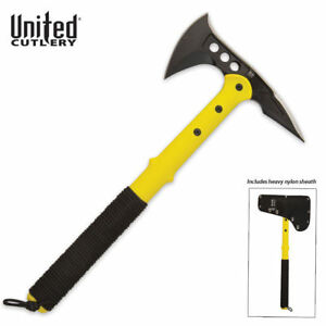 UNITED CUTLERY M48 Tactical SURVIVAL  Tomahawk Axe Rescue Yellow