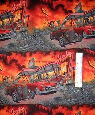 """Halloween Fabric - Zombie Drive-In Diner Scene - Alexander Henry 23"""""""