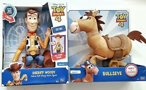 Toy Story 4 Talking Woody & Woodys Horse Bullseye - Action & Soft Talking New