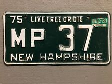 1975 New Hampshire License Plate Live Free Or Die MP-37 1980 Sticker