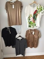 Chico's 3 Short Sleeve New Tops Lot of 5