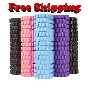 Yoga Foam Roller Back Muscle Rollers Stick Trigger Point Leg Pain Massage Balls