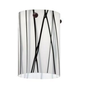 Lithonia Lighting White Drizzle Short Cylinder Shade for LED Mini Pendant