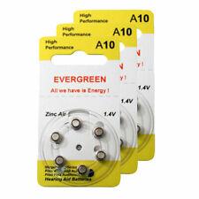 Hearing Aid Battery A10/B6_18 Evergreen 18pk, Size A10, Zinc Air, 1.4V