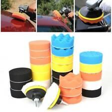31Pcs Car Polisher Gross Buffer Waxing Buffing Polishing Sponge Pads Adapter Kit