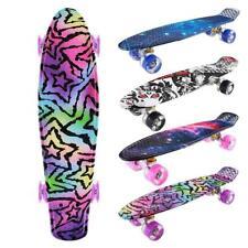 LED Skateboard Komplette Cruiser Retro Skateboard Kinderboard board ABEC7 c 06