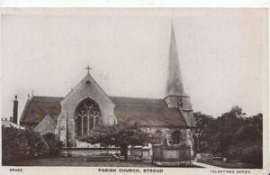 Gloucestershire Postcard - Parish Church - Stroud - Real Photograph - Ref TZ6141