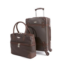 "Destinations 21"" Hardside Spinner and Satchel 2piece Set ~ Brown"