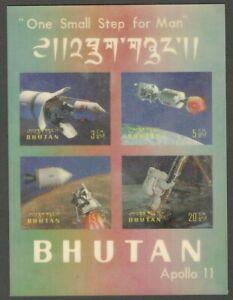 AOP Bhutan #108Cm 1969 APOLLO 11 MOON LANDING 3D MS MNH