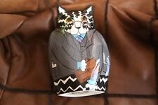 New listing Cats by Nina Lyman Flower Vase Planter - Collectible Attorney at Law Black -J121